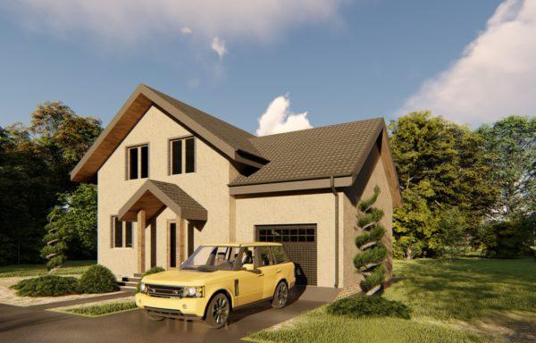 Дом из сибита 400мм с гаражом