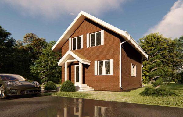 Дом из блоков пенополистиролбетона 300мм